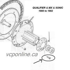 CAW010 Rear wheel spoke flengh screw QUALIFIER ,MX (1980 to 82) (set of 6)
