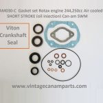 Gasket set Rotax engine 244,250cc Air cooled SHORT STROKE (oil injection) Can-am SWM -2