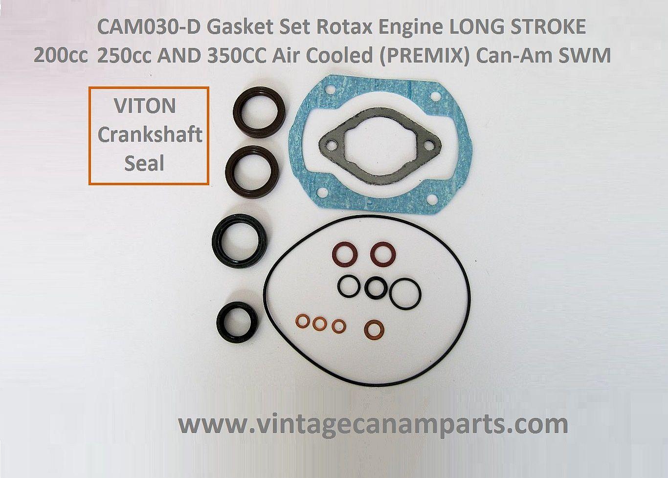 Cam030 D Gasket Set Rotax Engine Long Stroke 200cc 250cc And 350cc Diagram Air Cooled Premix Can Am Swm
