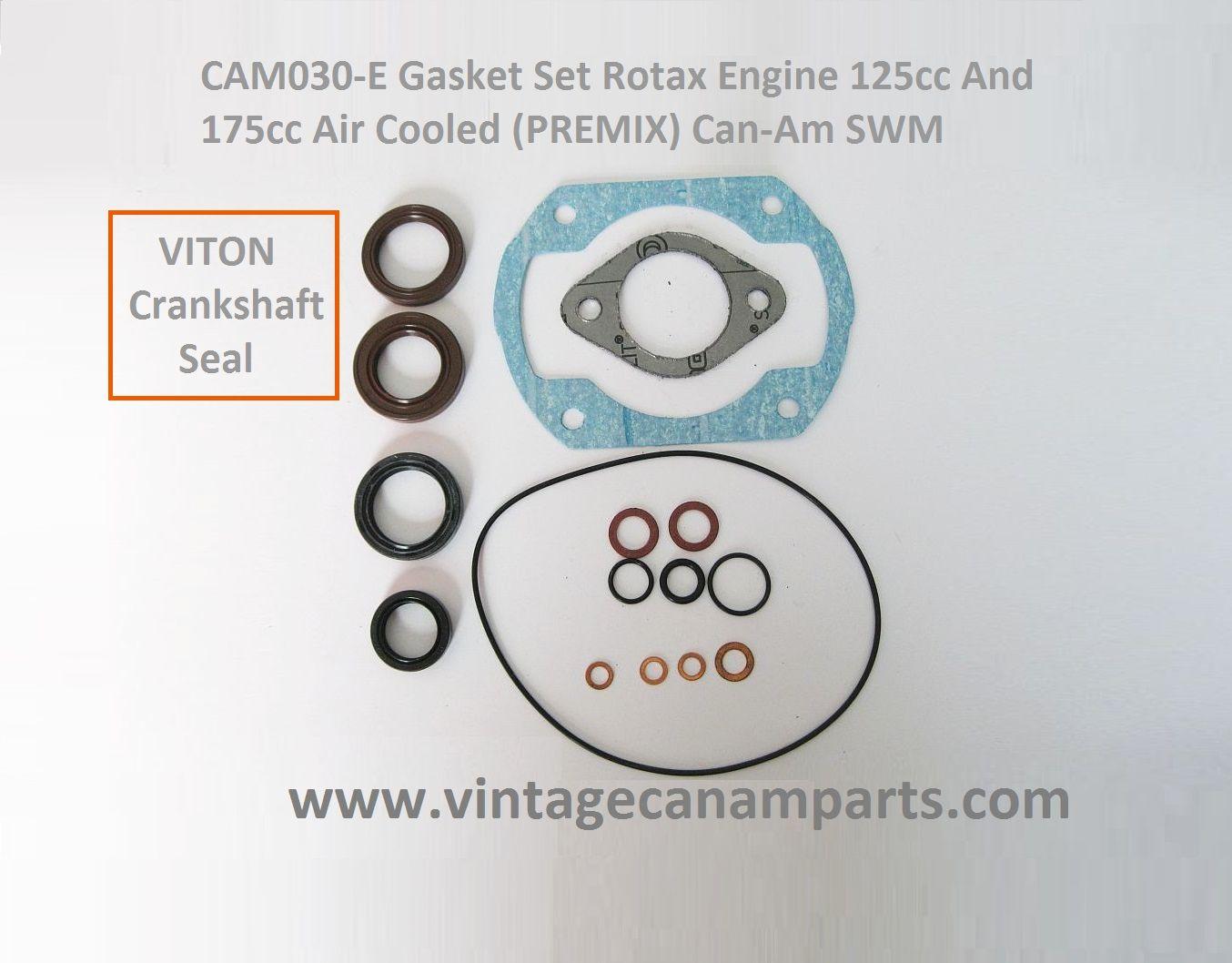 CAM030-E Gasket set Rotax engine 125cc ,175cc Air cooled (PREMIX ...