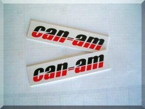 "CAD001 OEM tank sticker ""CAN-AM"" (set of 2)"