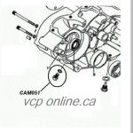 CAM051-B Crankcase drain screw and gasket 370cc and 400cc